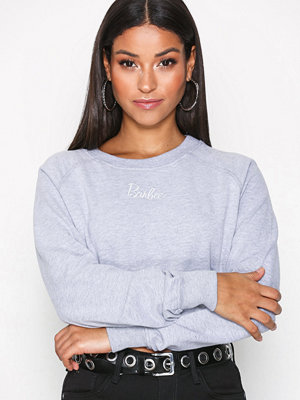 Missguided Barbie Cropped Jumper Grey