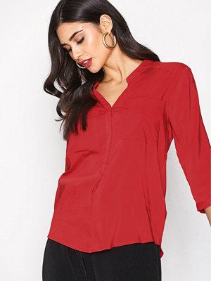 Vero Moda Vmerika Plain 3/4 Shirt Noos Röd