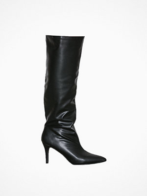 NLY Shoes Knee High Stiletto Boot Svart