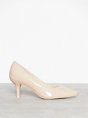 NLY Shoes Mid Heel Pump Beige