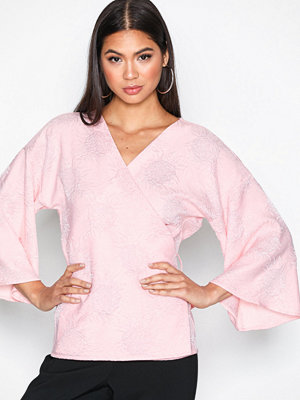 NLY Trend Kimono Blouse Ljus Rosa