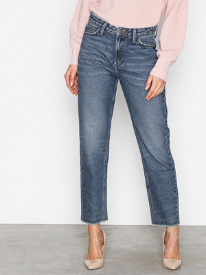 Lee Jeans Mom Straight Blue Authent Denim