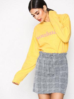 Topshop Check Paperbag Mini Skirt Grey