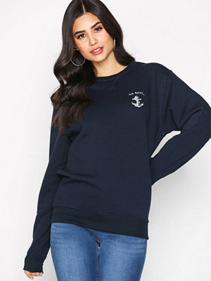 Topshop US Navy Sweatshirt Navy