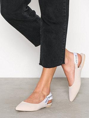 NLY Shoes Slingback Ballerina Beige