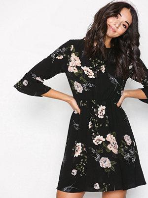Ax Paris Floral Flounce Dress Black
