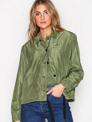 Cheap Monday omönstrad bomberjacka Coach jacket Square logo Olive