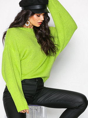NLY Trend Sleeve Focus Spring Knit Lime Green