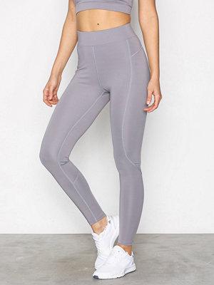 Sportkläder - NLY SPORT High Waist Basic Tights Grå/Silver