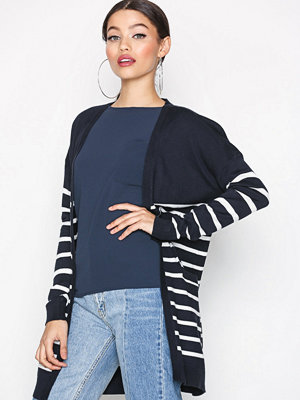 Only onlMILA Stripe L/S Long Cardigan Kn Mörk Blå
