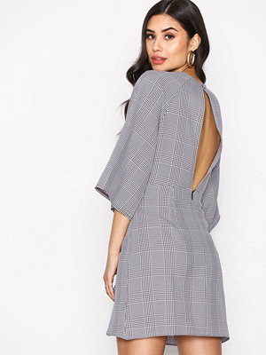 Topshop Checked Knot Mini Dress Multi