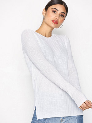 Topshop Cut and Sew Long Sleeve Top White