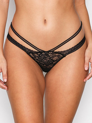 Hunkemöller Low Strappy String Svart