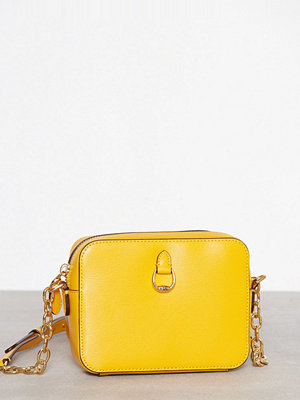 Lauren Ralph Lauren gul axelväska Small Camera Crossbody Sunflower