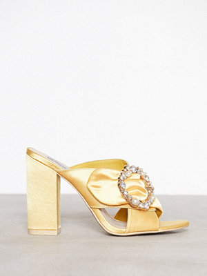 NLY Shoes Satin Embellished Mule Gul