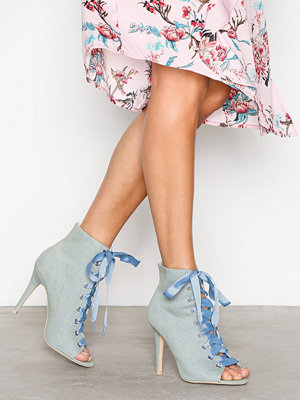 NLY Shoes Open Toe Bootie Champagne