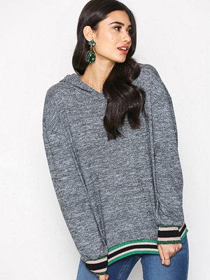 Street & luvtröjor - Sisters Point Viona Hood Sweater Dark Grey Melange