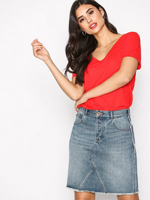 Maison Scotch Frayed Denim Skirt Denim