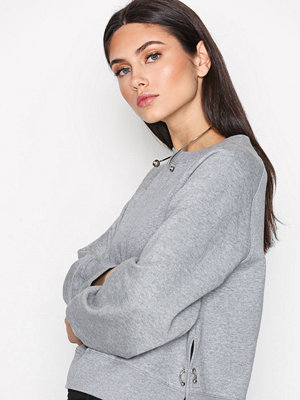 Dagmar Michelle Ring Top Grey Melange