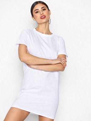 Missguided Short Sleeve T-Shirt Dress White