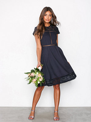 NLY Eve Skater Trim Dress Navy