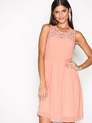 Vero Moda Vmvanessa Sl Short Dress Noos Ljus Rosa