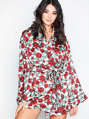 Missguided Rose Night Robe Multicolor