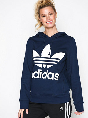 Street & luvtröjor - Adidas Originals Trefoil Hoodie Navy