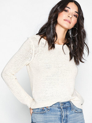 Tröjor - Only onlGEENA Xo L/S Pullover Knt Noos Offwhite