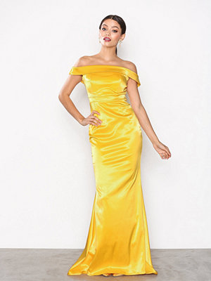 NLY Eve Satin Off Shoulder Gown Gul