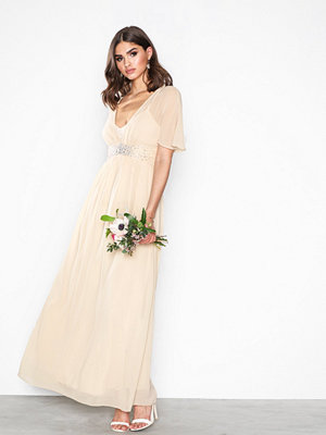 Little Mistress Emellished Waist Maxi Dre Beige