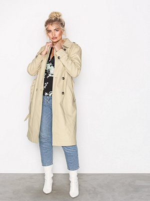 River Island Trench Coat Stone