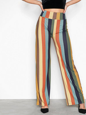 NLY Trend randiga byxor Printed Wide Pants Randig