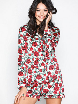 Pyjamas & myskläder - Missguided Satin PJ Set Multicolor