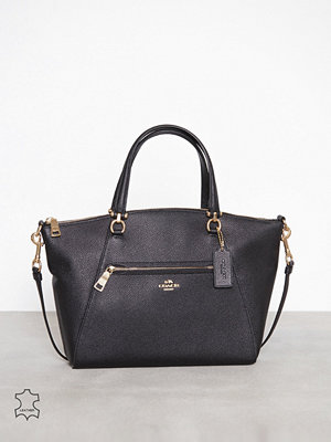 Coach svart axelväska Polished pebbled lthr prairie satchel