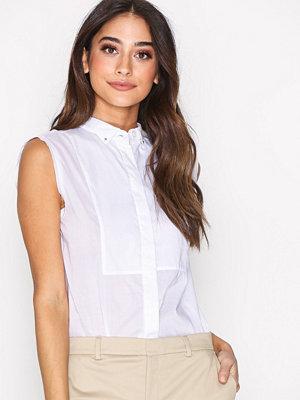 Filippa K Tuxedo Sleeveless Shirt White
