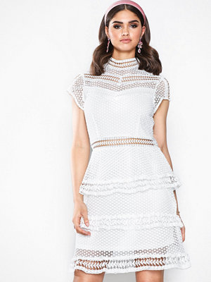 Y.a.s Yasalberte Capsleeve Lace Dress Br Offwhite