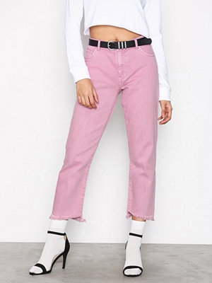 Only onlGUNVOR Reg Straight Pink Dnm Jea