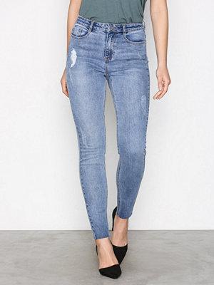 Missguided Skinny Highwaisted Vintage Jeans Blue