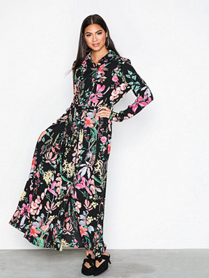 NLY Trend Long Button Down Dress Mönstrad