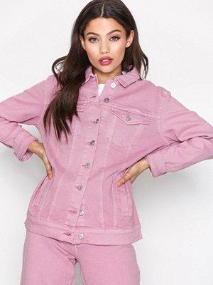 Only onlEVA Oversized Pink Dnm Jacket Bj Ljus Lila