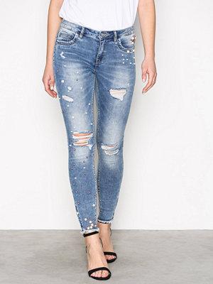 Jeans - Only onlKENDELL Reg Sk Ankpearl Dnm Jnsb Ljus Blå