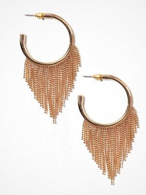 New Look örhängen Chain Trim Hoop Earrings Gold