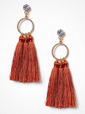 River Island örhängen Triple Tassel Earrings Orange