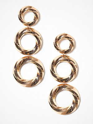 New Look örhängen Twisted Ring Tiered Drop Earrings Gold