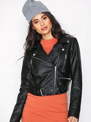 NLY Trend Free To Be Biker Jacket Svart