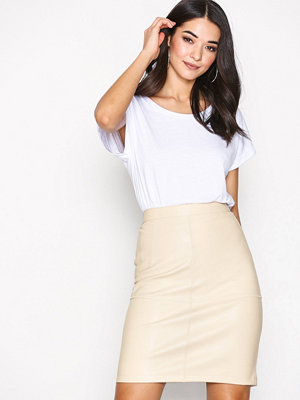 Vila Vipen New Skirt-Fav Sandshell