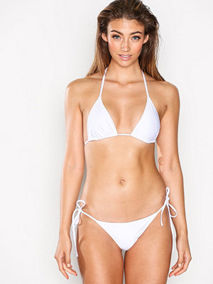 Missguided Plain Triangle Bikini Set White