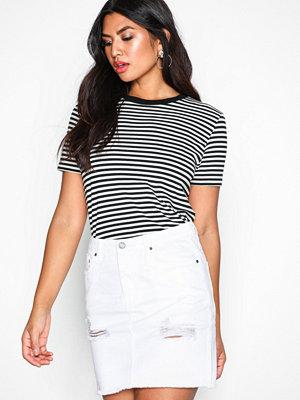 NLY Trend Destroy Mini Denim Skirt Vit