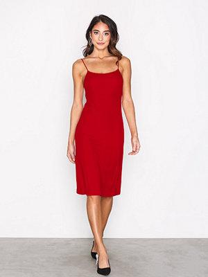 Filippa K Jersey Crepe Strap Dress Rouge